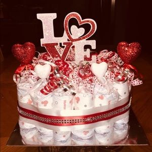 You Have My Heart Diaper Cake